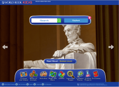 world book kids front page with Abraham Lincoln